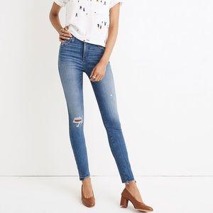 "Madewell 10"" high rise skinny jeans drop hem sz 24"